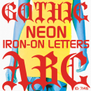 Gothic Neon Iron-on Letters