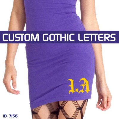 Big Gothic Iron-on Letters