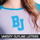 Varsity Outline Iron-on Letters