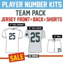 Player Iron-on Numbers Jersey & Shorts