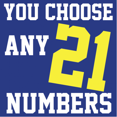 Iron-on Numbers 4 & 8 Inch 21 Pack you choose