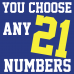 Iron-on Numbers Any 21 Pack you choose