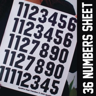 Rockit Block Iron-on Numbers 2 Inch Tall