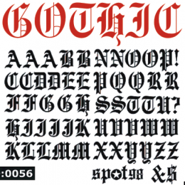 Gothic 1.5 inch Iron-on Letters Uppercase.