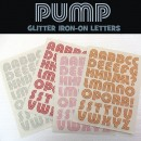 NYC Glitter Iron-on Letters