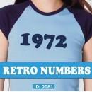 Vintage Retro Iron-on Numbers. 1970's