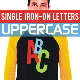 Single Iron-on Letters