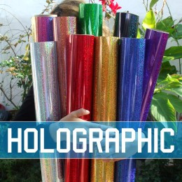 Holographic Iron-on Blank Transfer Sheets