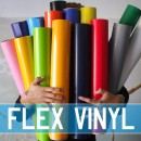 Flex Vinyl Transfers. Blank Sheets and Rolls