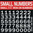 Small Half Inch Iron-on Numbers