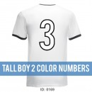 Tall Boy 2 Color Iron-on Numbers Packs
