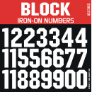 Block Iron-on Numbers
