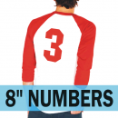 Single Big 8 Inch Iron-on Numbers
