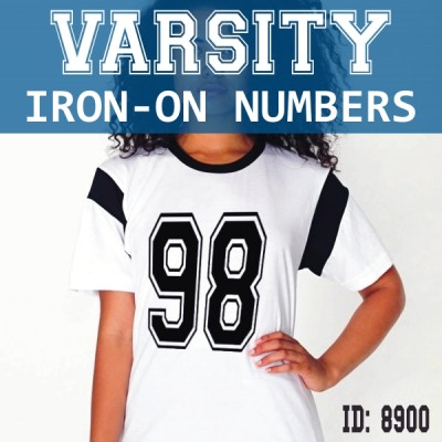 Big Varsity Outline Iron-on Numbers