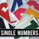 Single Big 8 Inch Iron-on Numbers