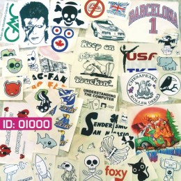 Sale 48 Assorted Iron-on Decals