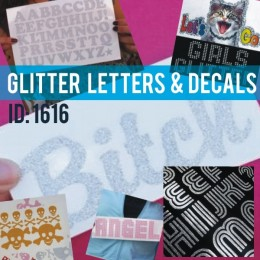 Glitter Iron-on Letters & Decals 20 Pack