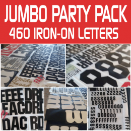 Iron-on Letters Jumbo Pack