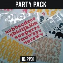 Letters & Decals Iron-on Party Pack
