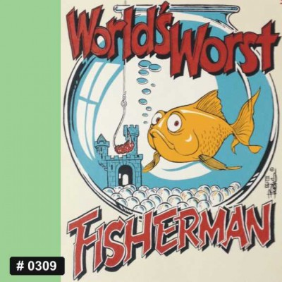 Worst Fisherman Iron-on Decal