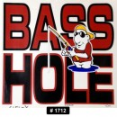 Basshole Iron-on Decal