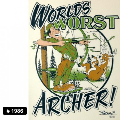 Worst Archer Iron-on Decal