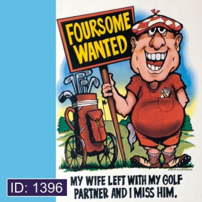 Foursome Wanted Iron-on Decal