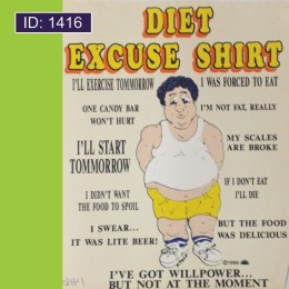Diet Excuse Iron-on Decal