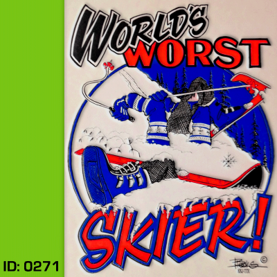 Worst Skier Iron-on Decal