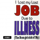 Lost Job Iron-on Decal