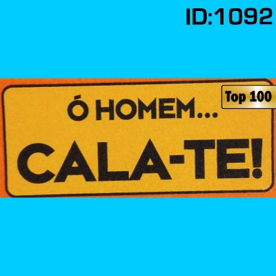 Homem Cala-te Iron-on Decal