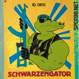 Schawrzengator Iron-on Decal