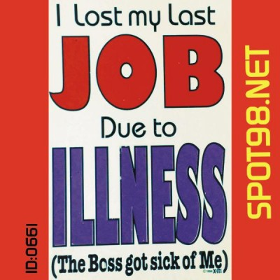Lost My Job Iron-on Decal