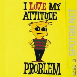 Attitude Problem iron-on Decal