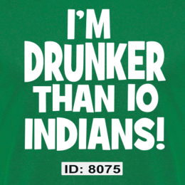Drunk Indians Iron-on Decal