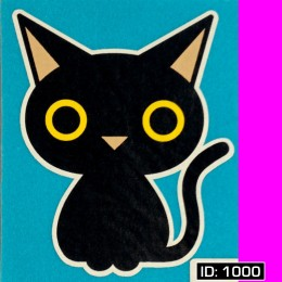 Black Cat Iron-on Decal