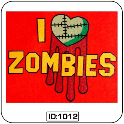 Love Zombies T-Shirt Decal