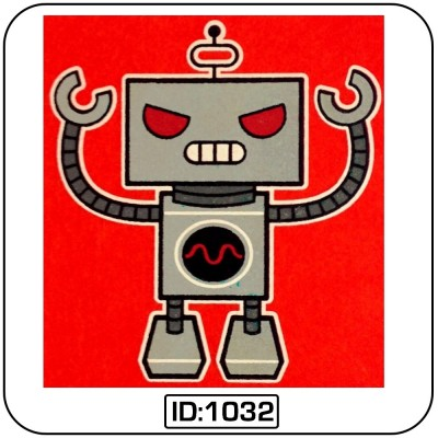 Robot Iron-on Decal