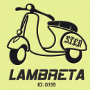 Vespa Lambretta Iron-on Decal