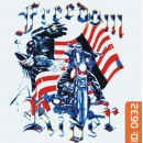Freedom Biker Iron-on Decal