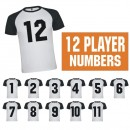 Team Iron-on Numbers Kits 8 Inch
