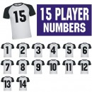 Sports Team Iron-on Numbers