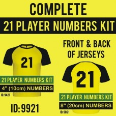 Complete 21 Player Numbers Pro Kit