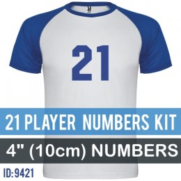 21 Player Numbers Pro Kit 4 Inch