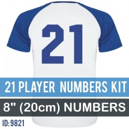 21 Player Numbers Pro Kit 8 Inch
