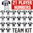 Soccer Team 21 Player Iron-on Number Kits