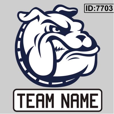Bulldog Custom Team Logo Iron-on