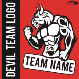 Devil Custom Team Logo Iron-on