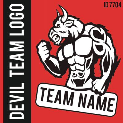 Devil Custom Team Logo Iron-on