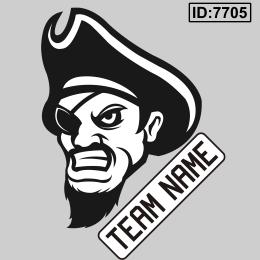 Pirate Custom Team Logo Iron-on